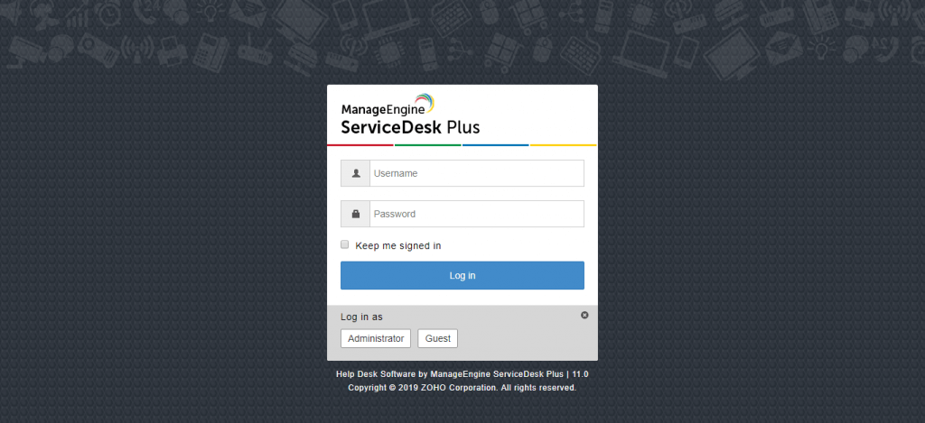 ورود به ServiceDesk