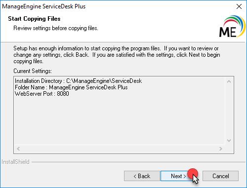 مراحل تصویری نصب ServiceDesk