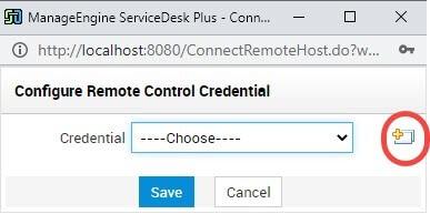 remote control Credential