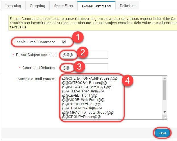 استفاده از قابلیت Email Command
